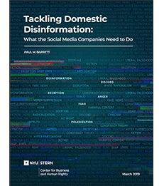Tackling Domestic Disinformation