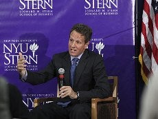 Geithner speaking 230x173 photo
