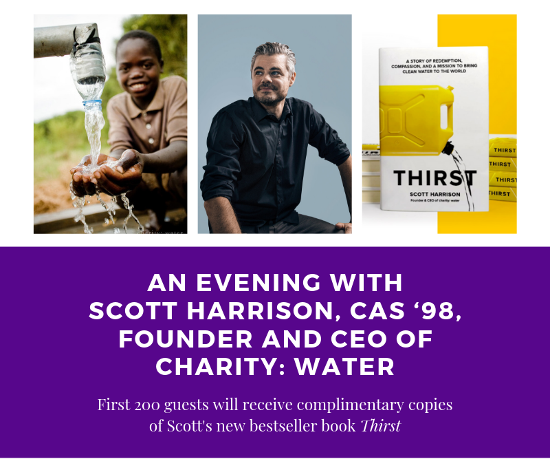 An evening with Scott Harrison