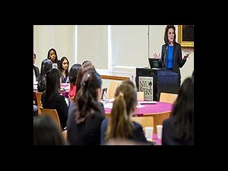 Undergraduate Stern Women in Business Conference lecture