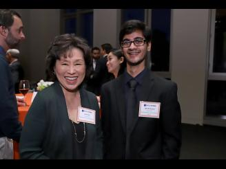Lois Choi and Ritvik Prasad at the 2020 Scholarship Reception
