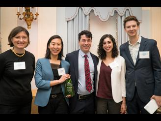 Photo of the three students who won the Aspen Case Competition
