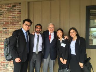 Warren Buffet with Stern Students in 2016