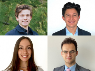 Grid of headshots - clockwise from top left: Tim Thole, Kristian Ruegg, Daniel Fridman, and Alexia Gallian
