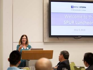 Professor Mor Armony presenting at SPUR Luncheon