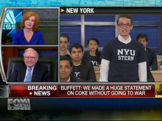Fox Business news report featuring NYU Stern Students