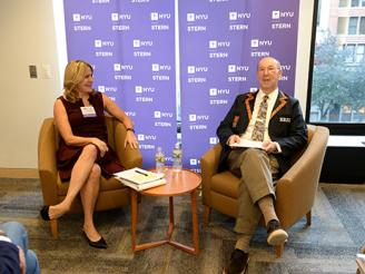 John Herzog and Melissa Schilling at Author Lecture Series Event