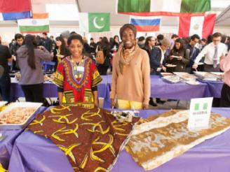 Nigeria table posing at Passport Day