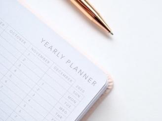 2020 planner with pen