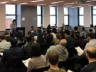Alumni gather at a Pivot Perspectives Panel Hosted by CCWP