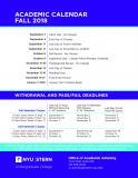 Thumbnail of Fall 2018 Academic Calendar