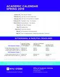 Academic Calendar Spring 2019