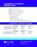 Academic Calendar Spring 2020