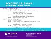 Academic Calendar Summer 2020