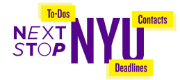 Next Stop NYU: To-dos, Contacts, Deadlines