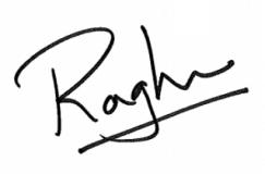 Dean Raghu Sundaram Signature