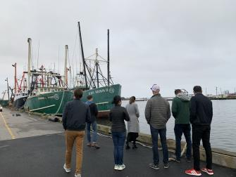 MBA students visit New Bedford to learn about commercial fishing