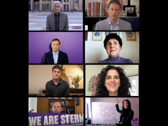 Zoom screen of Stern faculty and staff