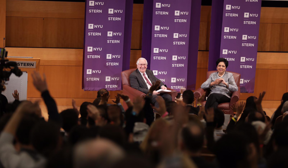 Lord Mervyn King and Indra Nooyi