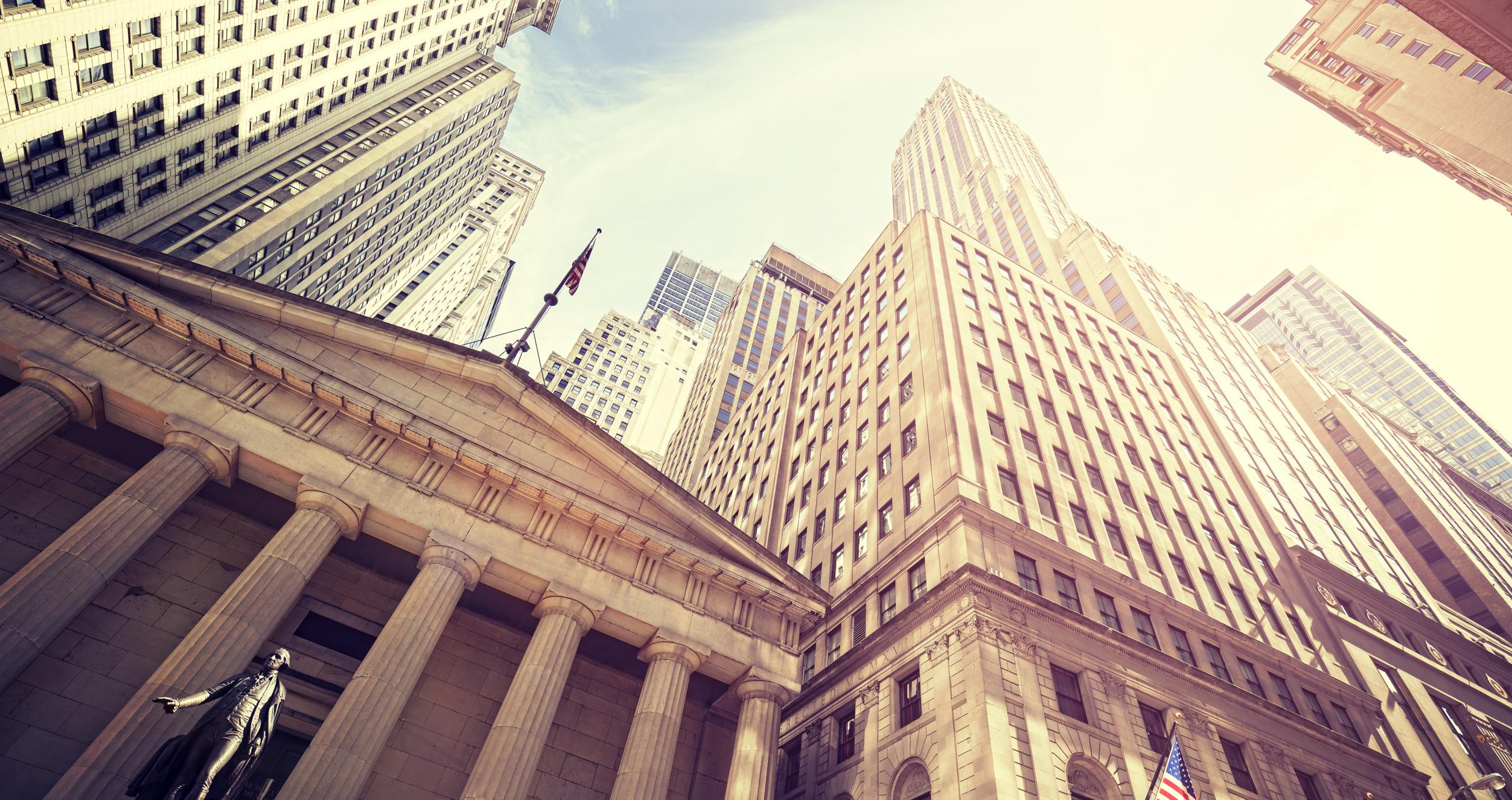 A view of the New York Stock Exchange