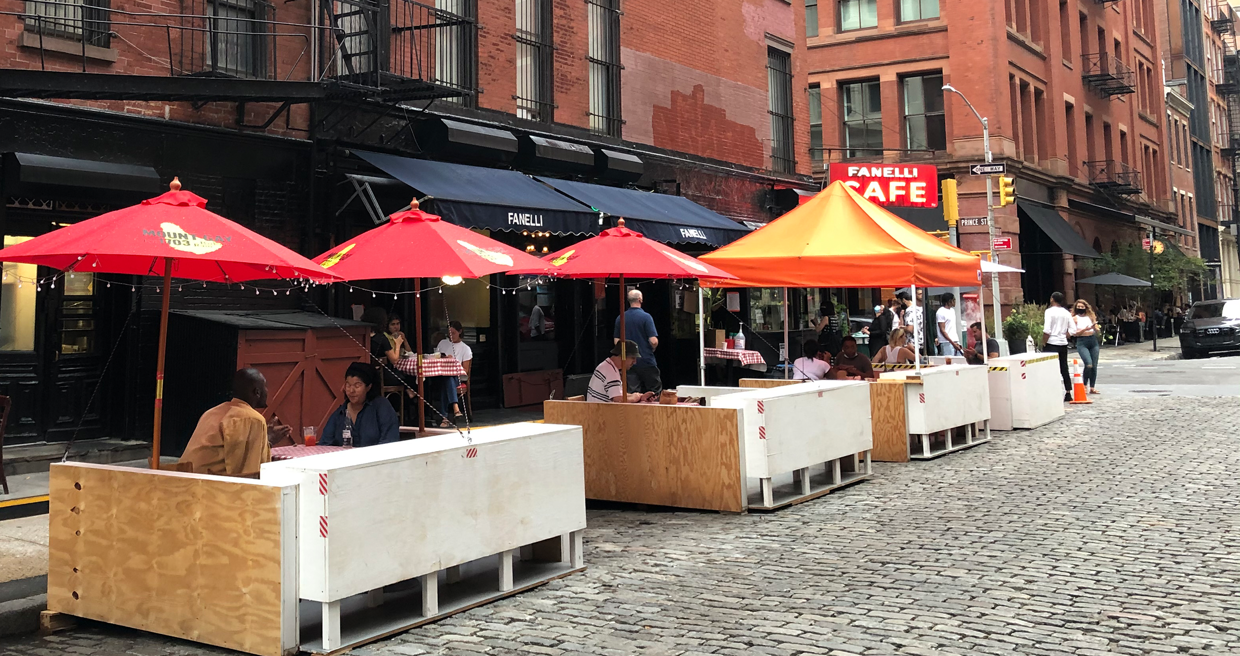 Outdoor dining in NYC during COVID19