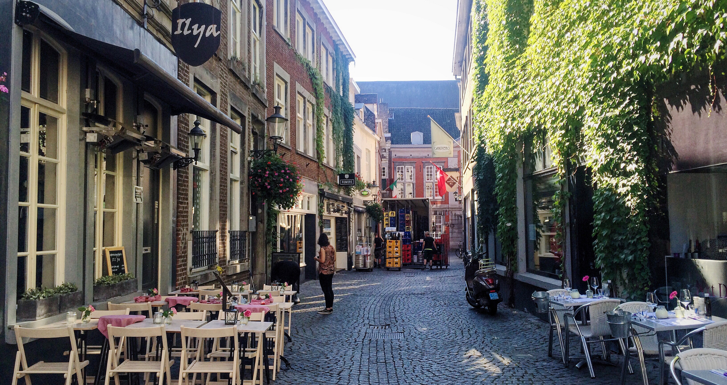 A narrow street in Maastricht