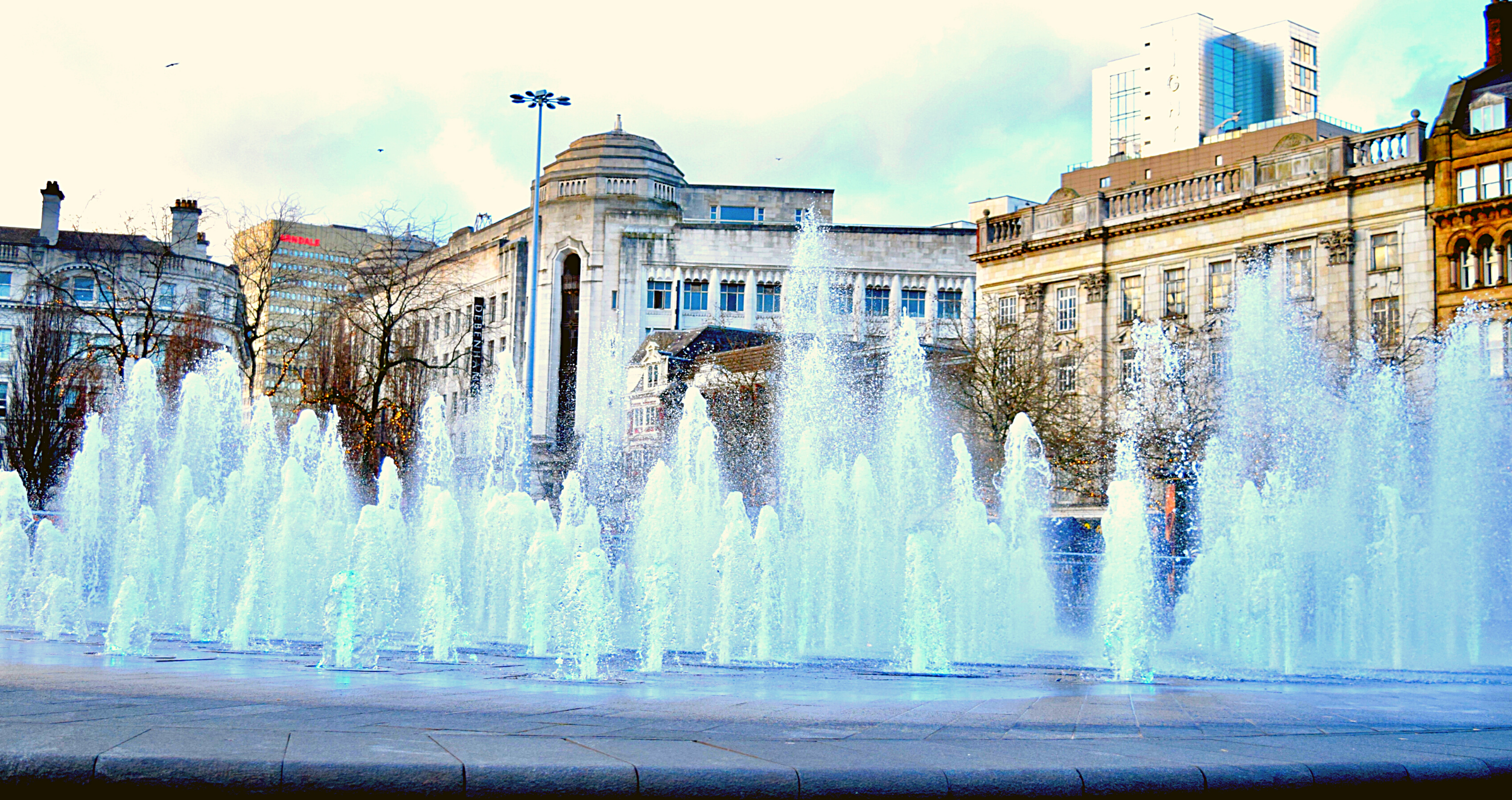 Fountains in Manchester