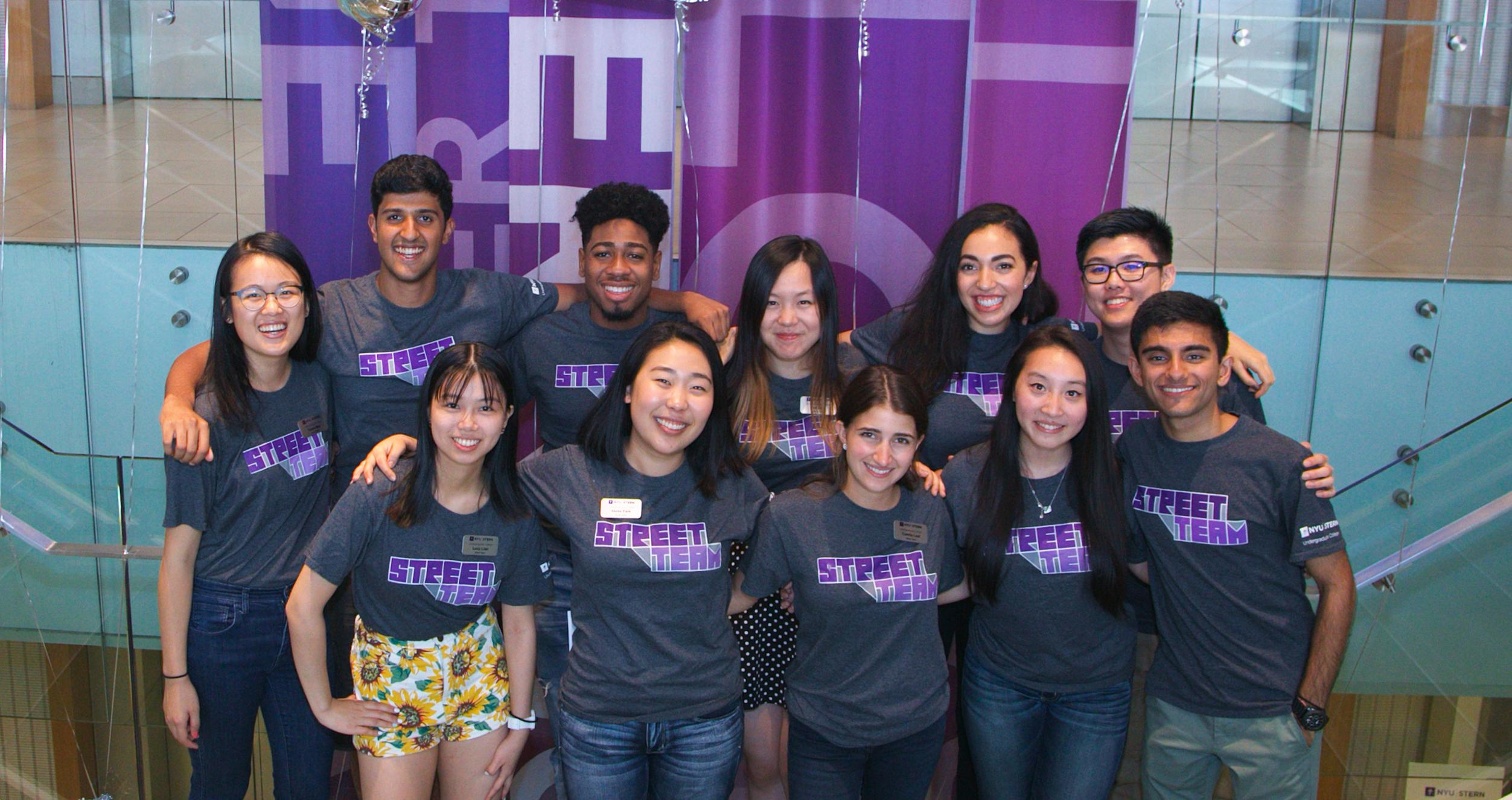 The NYU Stern Street Team at Open House 2017