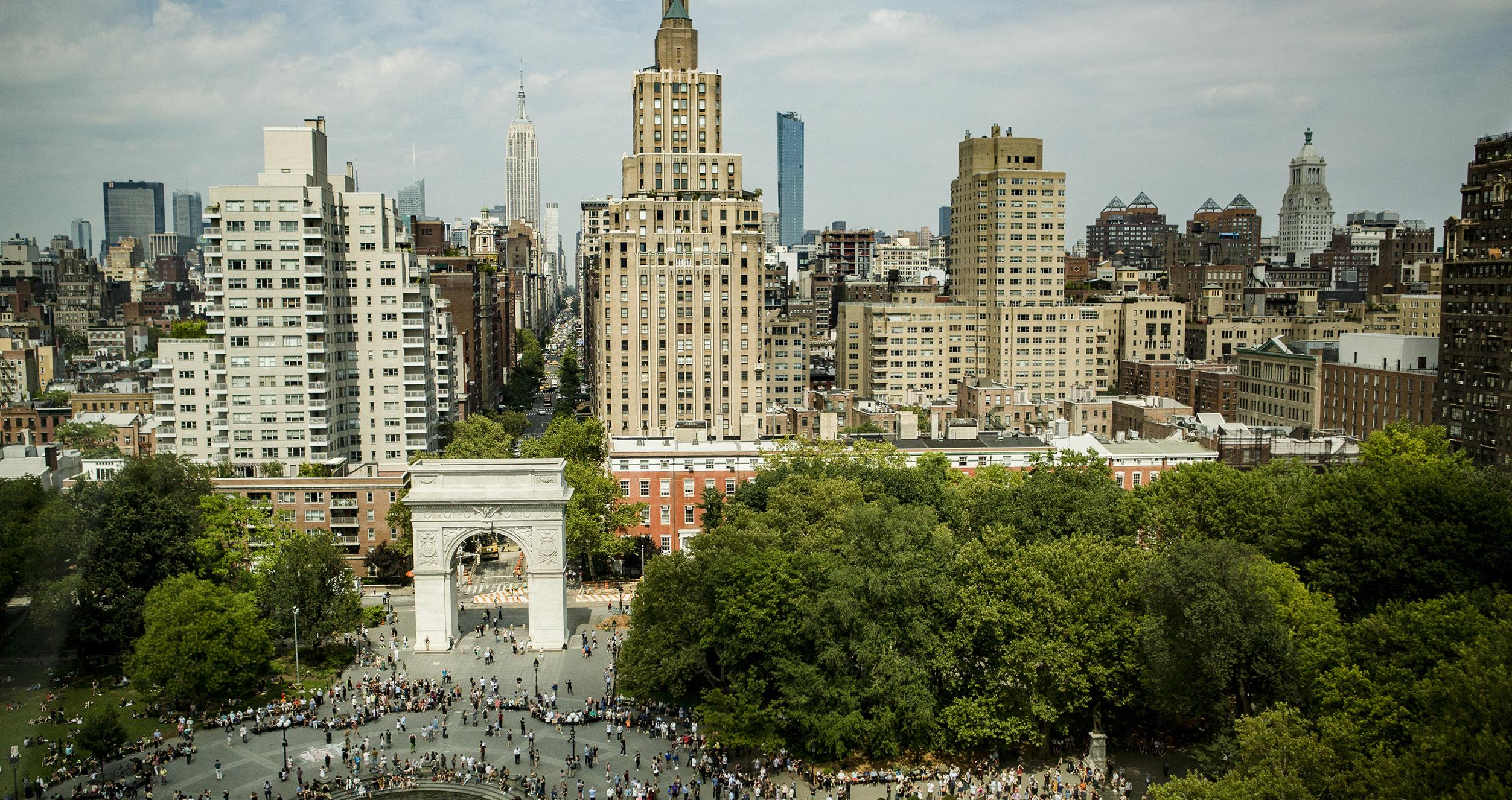 Washington Square Park from Above