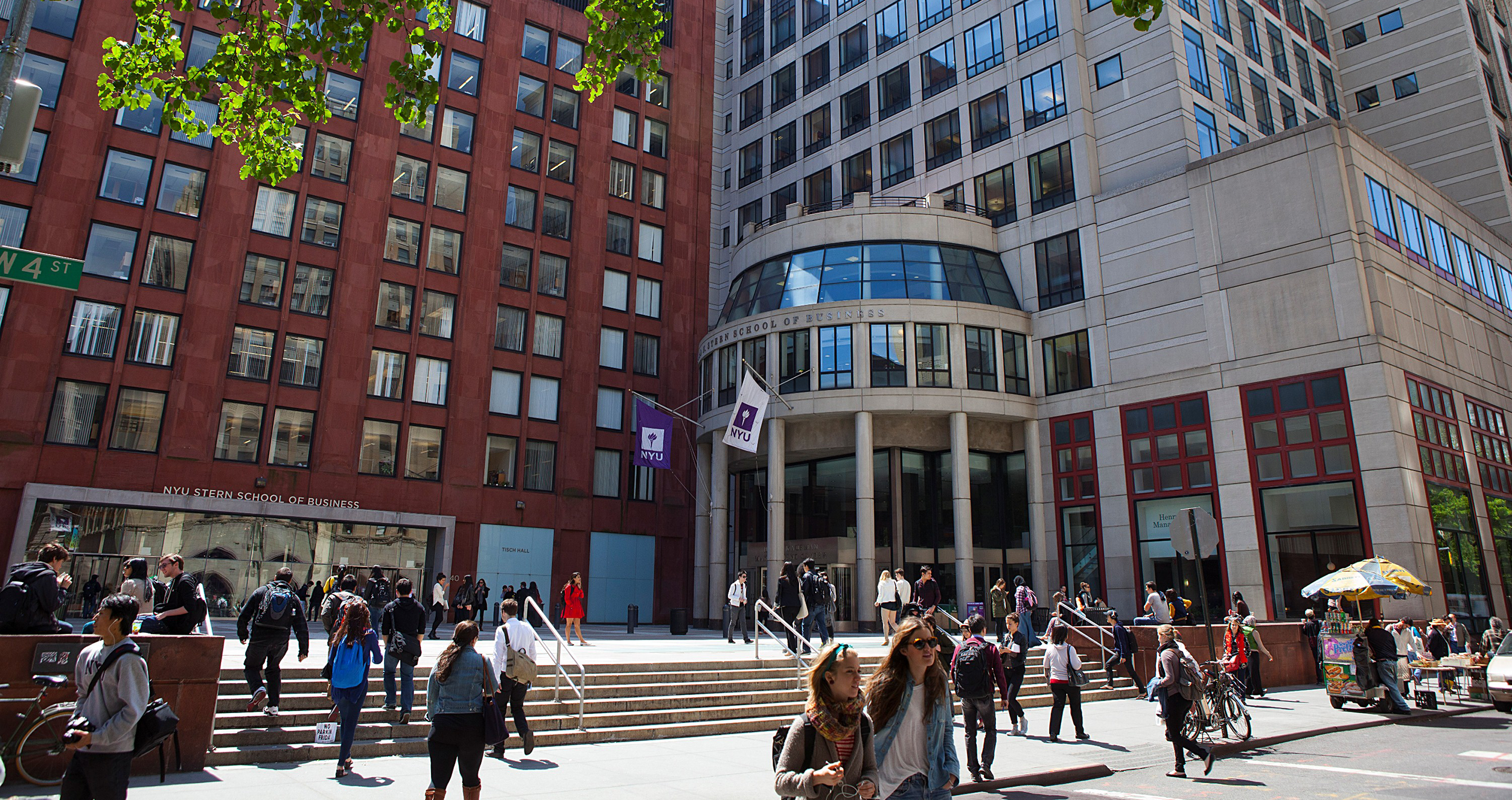 NYU Stern's Kaufman Management Center building and Gould Plaza