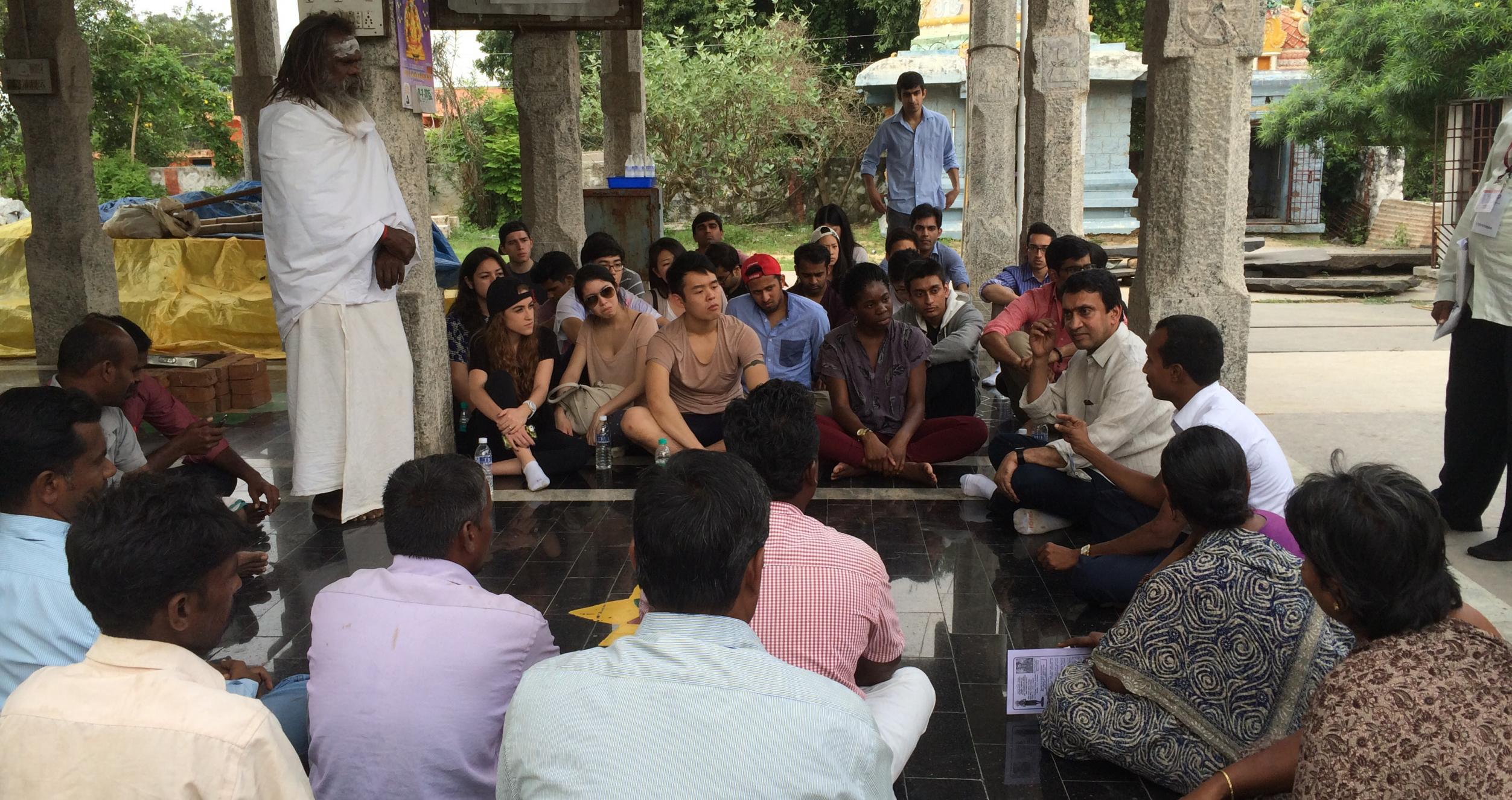 Students on a short-term immersion in India