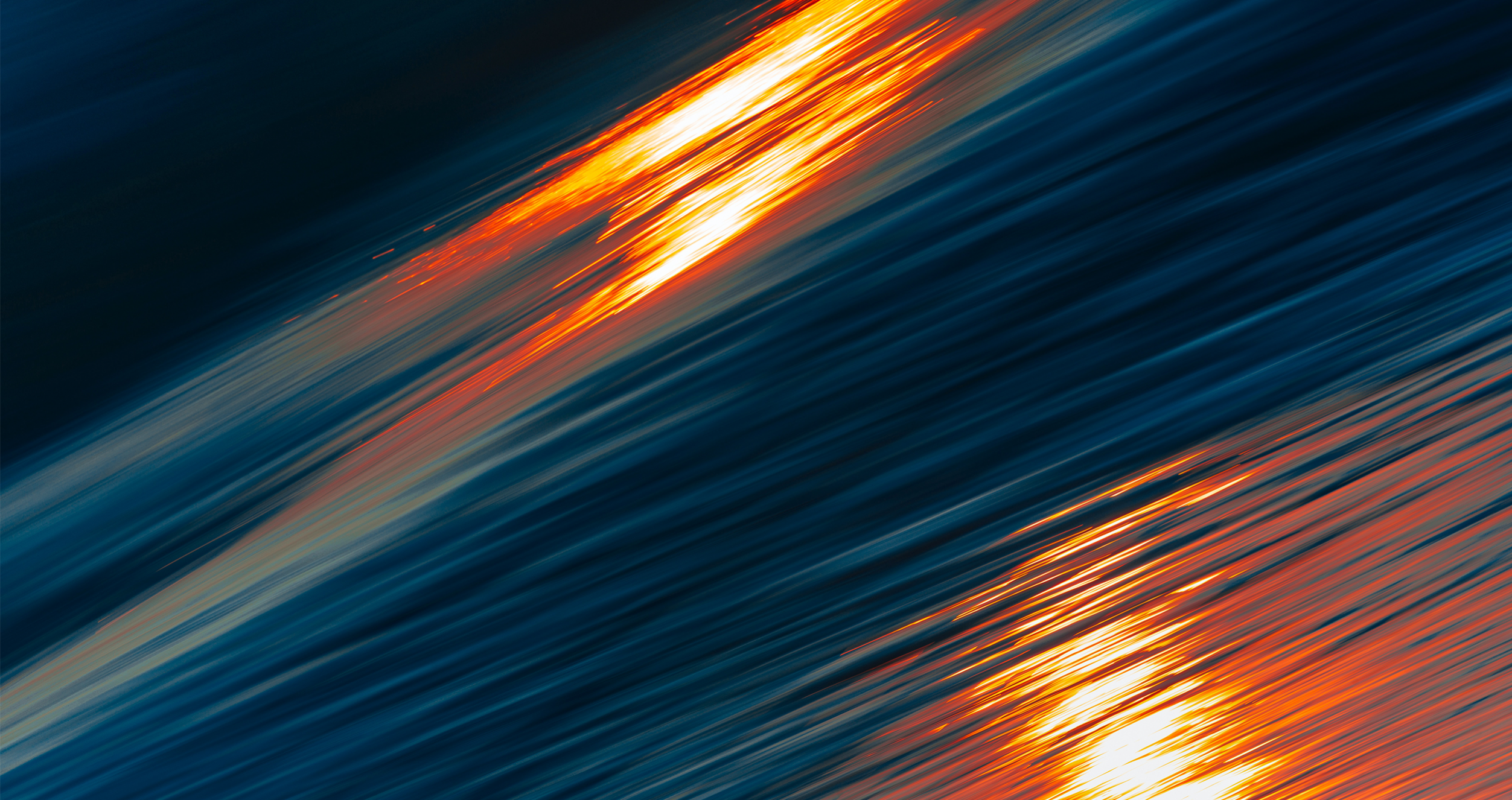 orange blue lights abstract