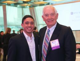 Donor and scholar at the Scholarship Reception