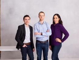 This is an image of two male founders and one female founder.
