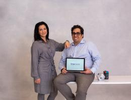 This is an image of a male and female founder.