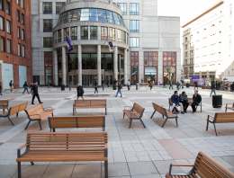 Benches on Gould Plaza