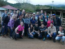 Group of Executive students at coffee farm