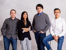 This is a photo of four founders posing for a portrait photo.