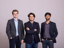 This is an image of three male founders posing for a team photo.