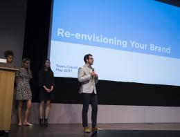 Man presenting: re-envisioning your brand