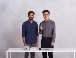 This is a team of two founders for the Blue Instrument Team.