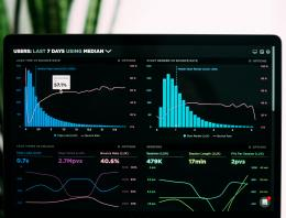 graphs of performance analytics on computer screen