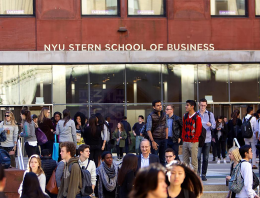 students in front of Tisch Hall