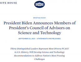White house briefing announcement