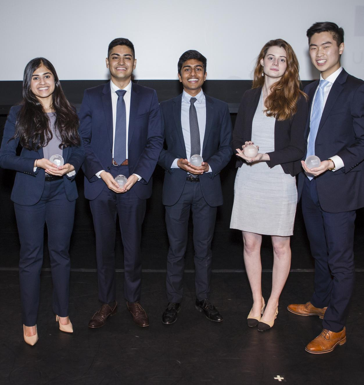 International Studies Program student speakers pose for a photo in the competition finals