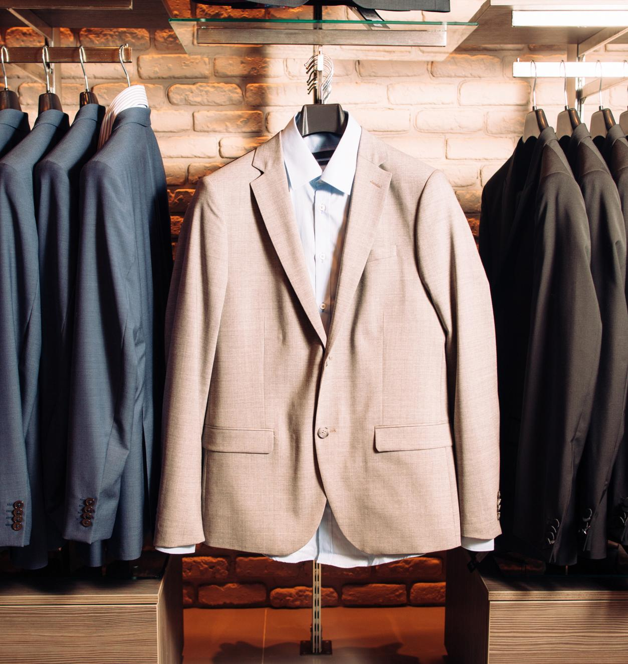 suits in retail store
