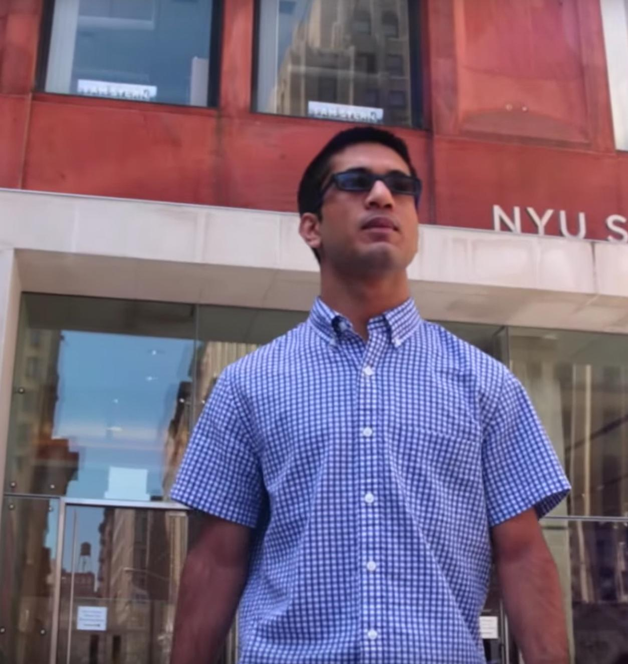 Precollege Summer at Stern Student Abhay on campus
