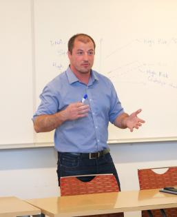Man speaking in classroom