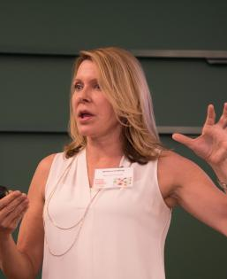 Melissa Schilling lecturing