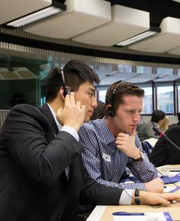 BPE Sstudents at European Union in Brussels, Belgium